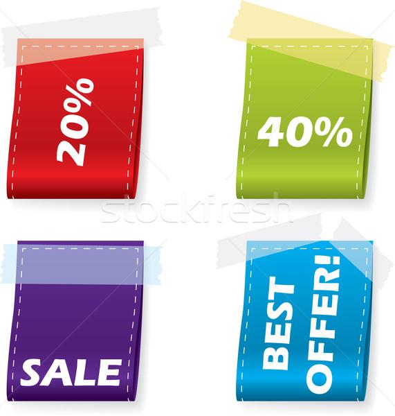 Vektor könyvjelző szett négy üzlet háló Stock fotó © vipervxw