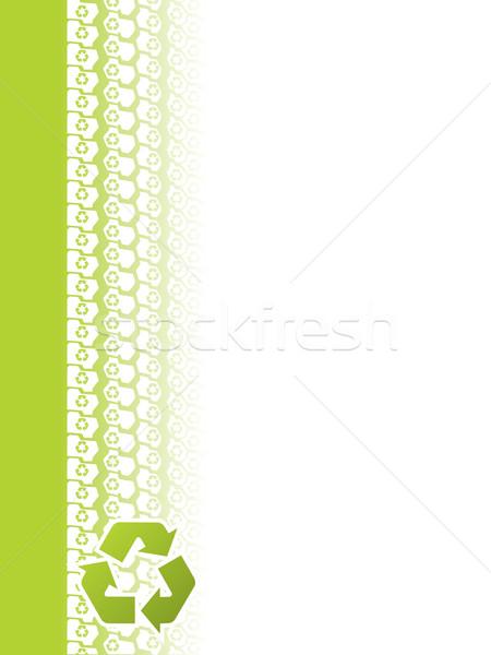 экологический шин трек брошюра дизайна Recycle Сток-фото © vipervxw