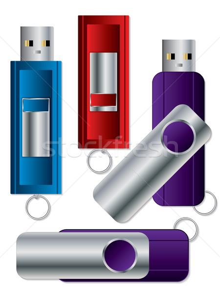 Various USB sticks set 1 Stock photo © vipervxw