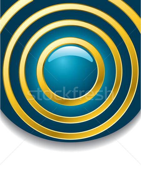 синий аннотация дизайна кнопки золото ряби Сток-фото © vipervxw