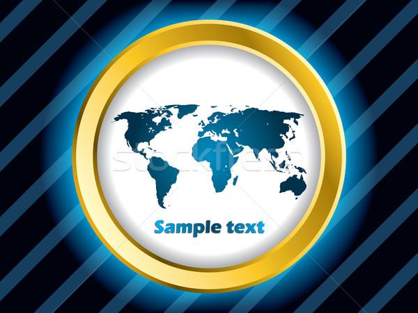 Мир дизайна карта золото кольца Сток-фото © vipervxw