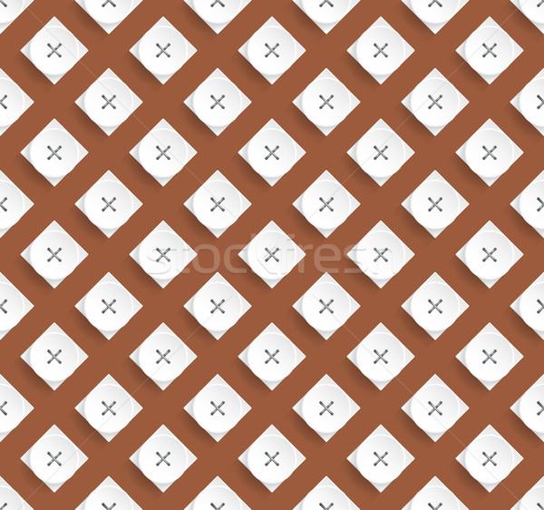 Elegante padrão projeto marrom branco formas Foto stock © vipervxw