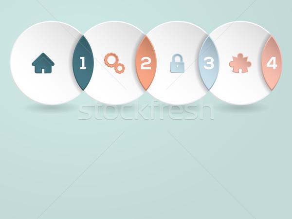 Stockfoto: Cool · iconen · nummers · ontwerp · papier