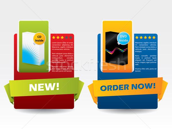 Adverising product label Stock photo © vipervxw