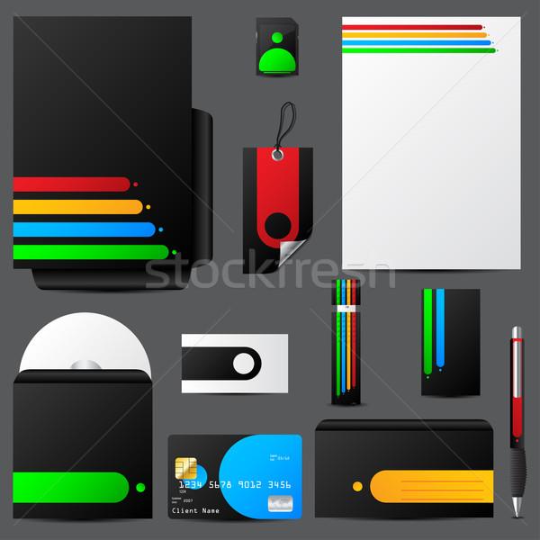 Colorful stationary set Stock photo © vipervxw