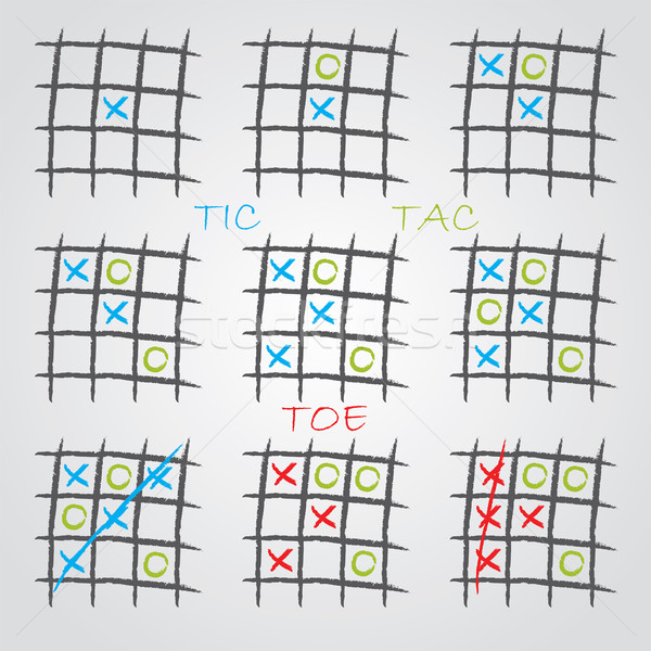 Playing tic tac toe  Stock photo © vipervxw