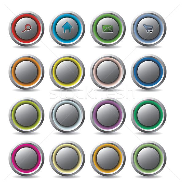 Customizable web buttons Stock photo © vipervxw