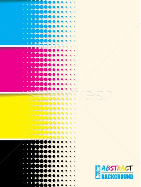 Abstract cmyk halftone background template Stock photo © vipervxw
