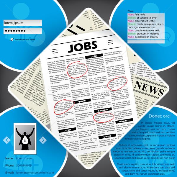 Job seeker's website template design  Stock photo © vipervxw
