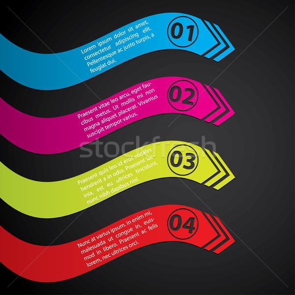 Stationary label set showing direction Stock photo © vipervxw