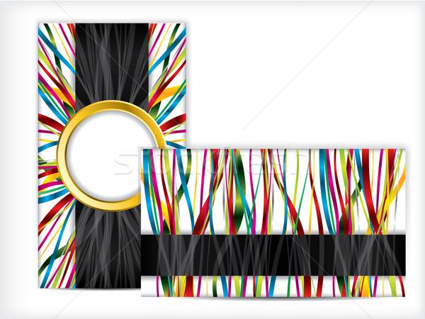Visitenkarte Design Bänder Abstrakten Business