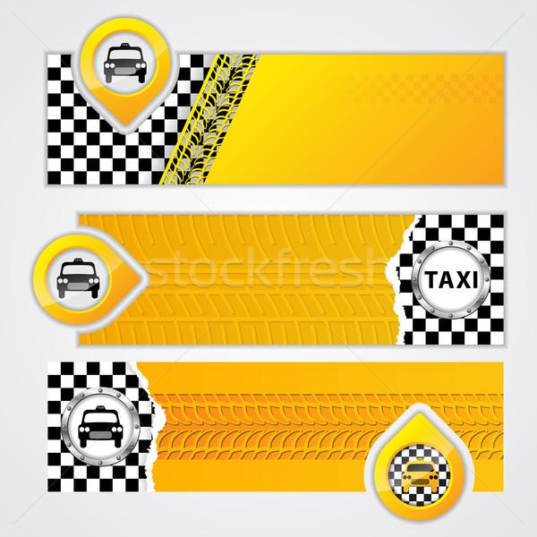 Taxi company banner set of 3 Stock photo © vipervxw