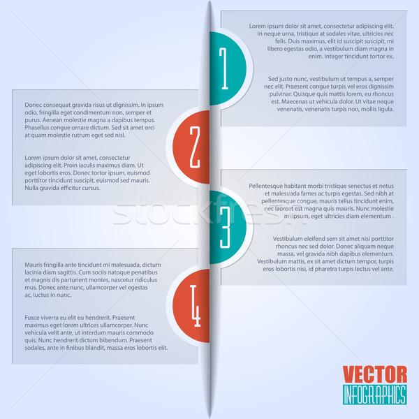 Simplistic but eyecatching infographic design Stock photo © vipervxw