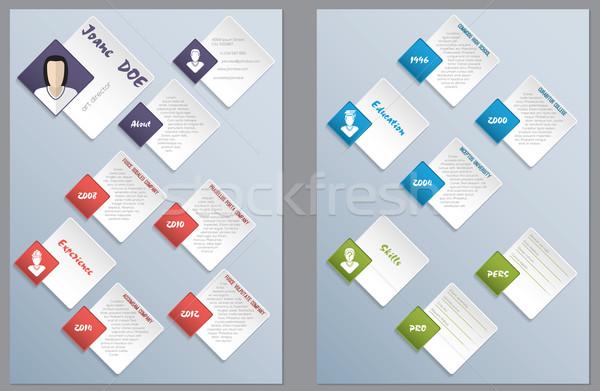 Cool new modern resume curriculum vitae design Stock photo © vipervxw