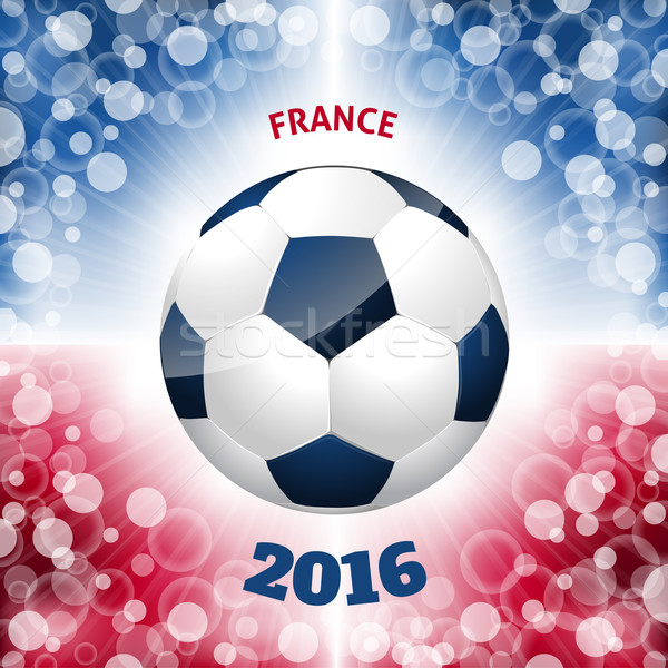 Soccer ball poster with french flag like background  Stock photo © vipervxw