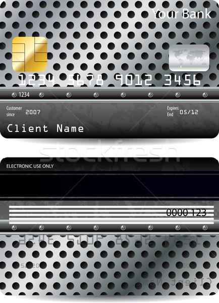 クレジットカード デザイン 金属 点在 のような ビジネス ストックフォト © vipervxw
