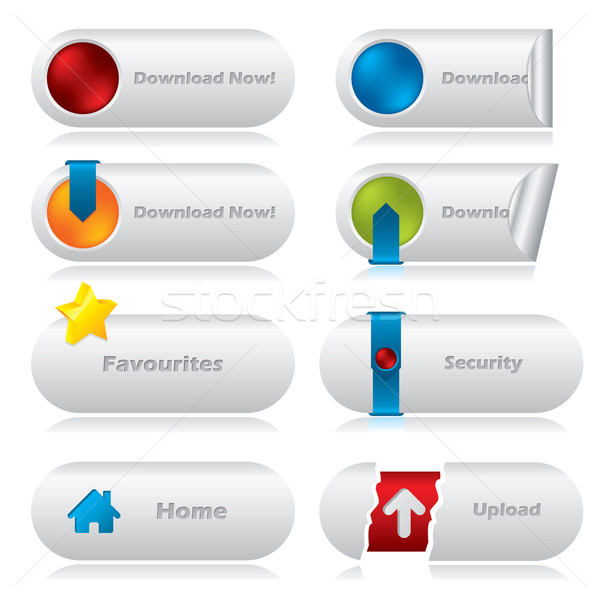 Download web buttons with various elements Stock photo © vipervxw