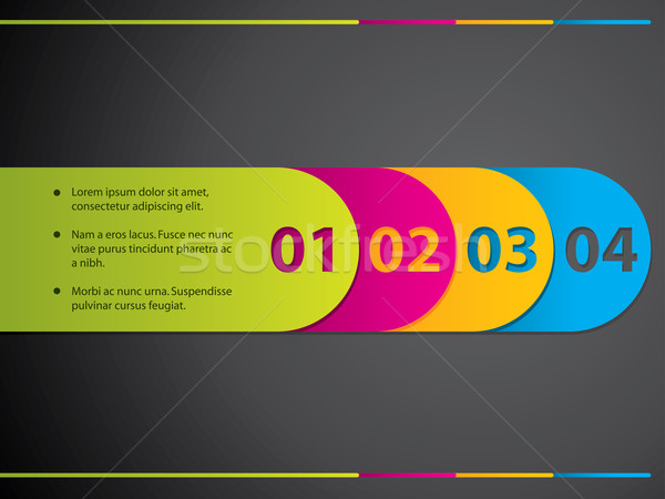 Stationary label set with numbers Stock photo © vipervxw