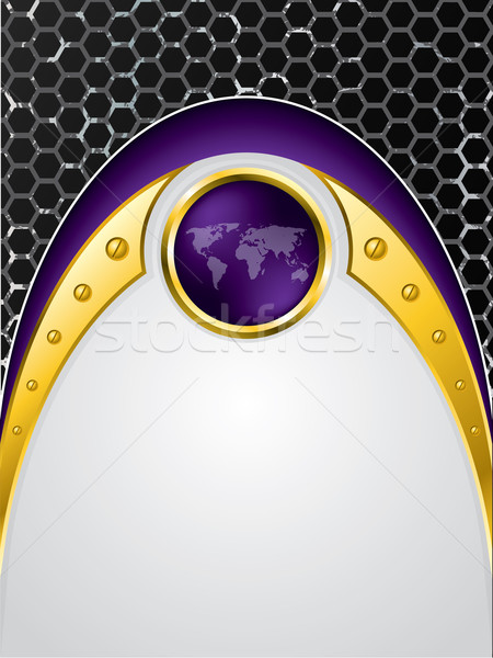 Grunge hatszög minta absztrakt világ háttér Stock fotó © vipervxw