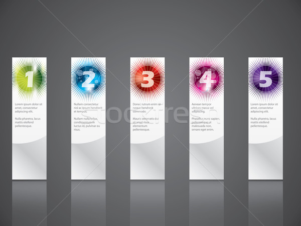 Cool gradation labels with haftones and rays Stock photo © vipervxw