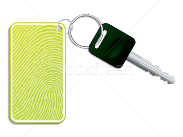 Verde chiave impronte digitali accesso metal auto Foto d'archivio © vipervxw