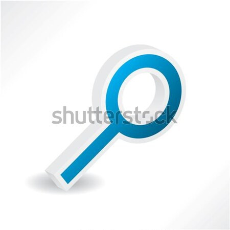 3d blue magnifier with shadow  Stock photo © vipervxw
