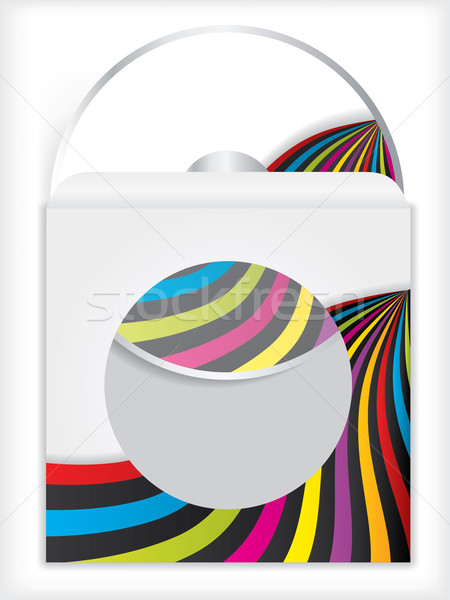 Cd douille design couleur fond société Photo stock © vipervxw