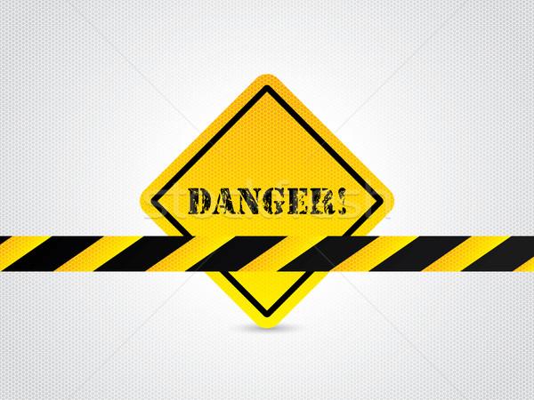 Danger sign with hexagon background Stock photo © vipervxw