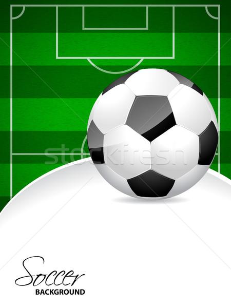 Fútbol folleto diseno campo de fútbol pelota frente Foto stock © vipervxw