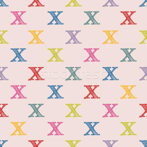 Scribbled X letter pattern design Stock photo © vipervxw