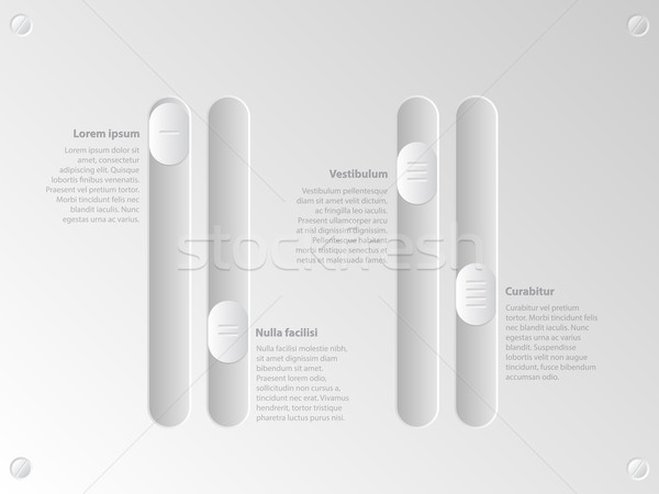 Cool slider infographic with options Stock photo © vipervxw