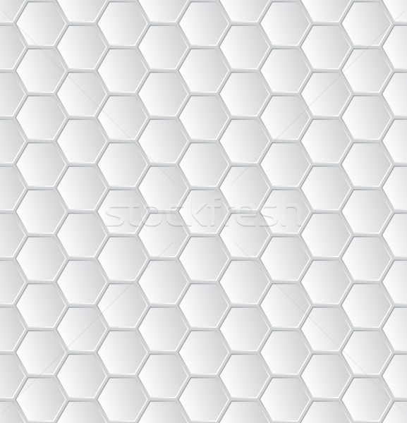 аннотация белый шестиугольник шаблон обои дизайна Сток-фото © vipervxw