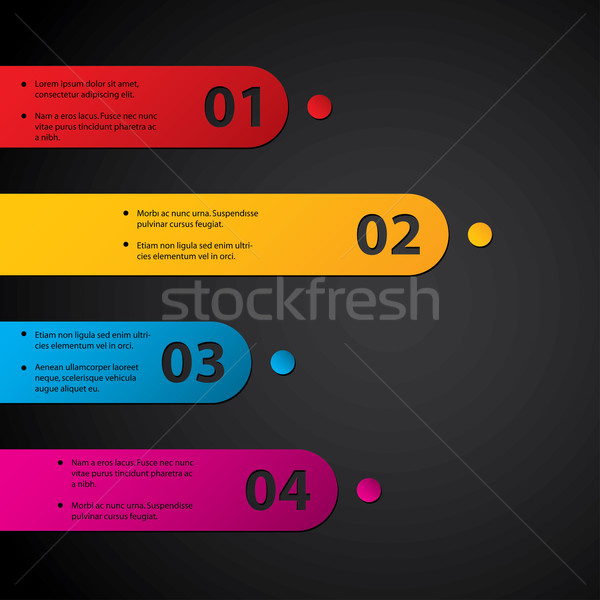 Color labels with grades Stock photo © vipervxw