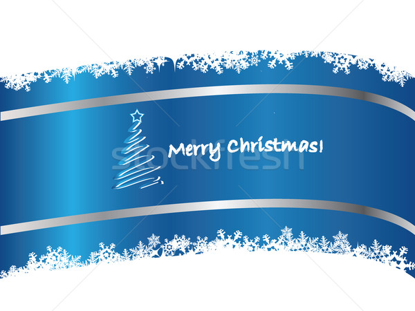 Blue Christmas card 2  Stock photo © vipervxw