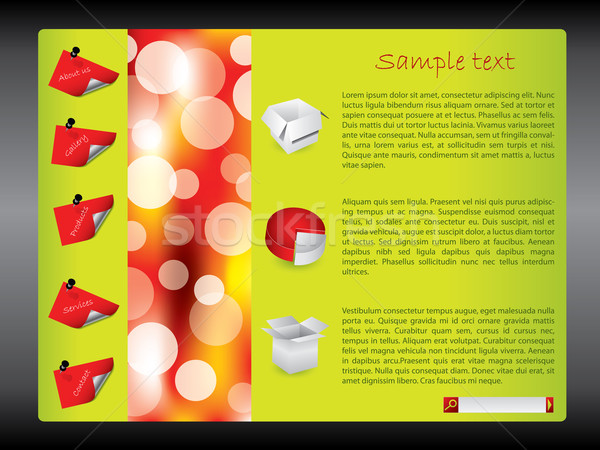 Cool green-red website design template  Stock photo © vipervxw
