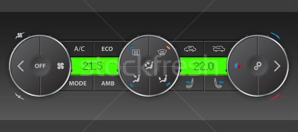 Detailed digital air condition control panel Stock photo © vipervxw