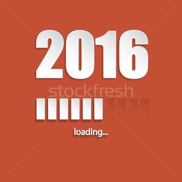 Flat new year 2016 loading background  Stock photo © vipervxw