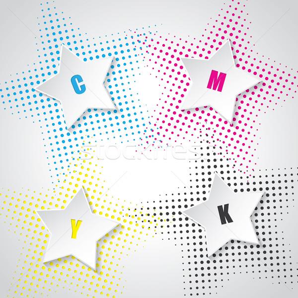 аннотация 3D звезды звездой дизайна фон Сток-фото © vipervxw