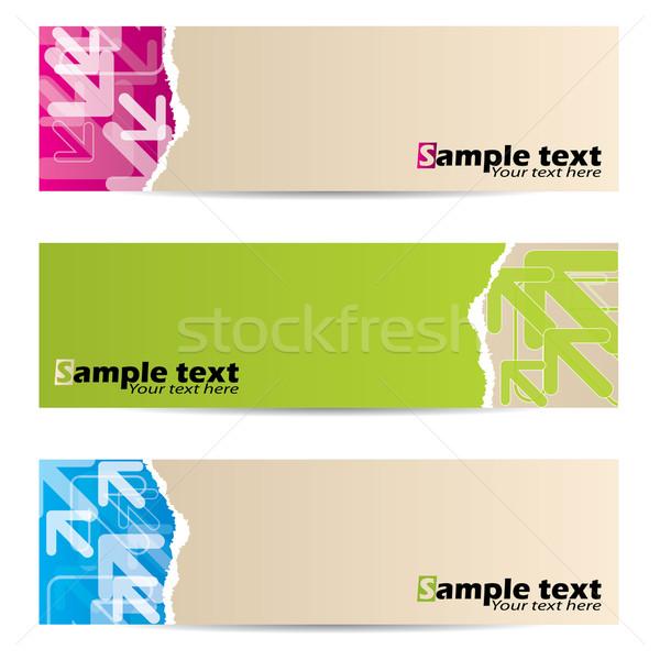 Stock fotó: Papír · szalag · terv · nyilak · átlátszó · absztrakt