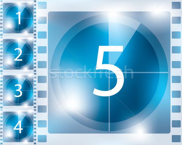 Azul cuenta atrás diseno textura marco película Foto stock © vipervxw