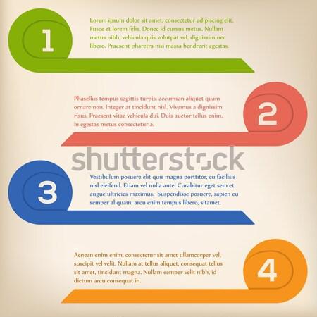 Curling arrow infographic design Stock photo © vipervxw