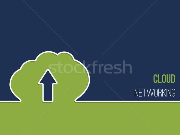 Réseau cloud publicité nuage silhouette affaires Photo stock © vipervxw