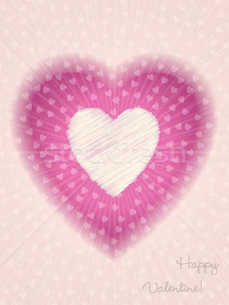 Cool valentine day greeting with bursting heart Stock photo © vipervxw