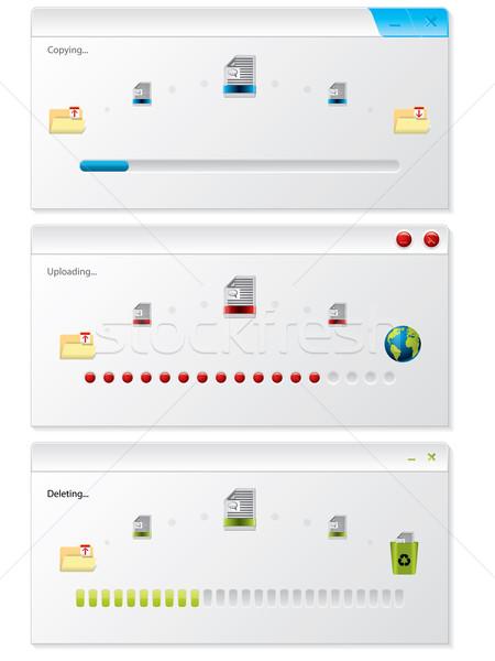 ファイル コピー 進捗 インジケータ 窓 白 ストックフォト © vipervxw