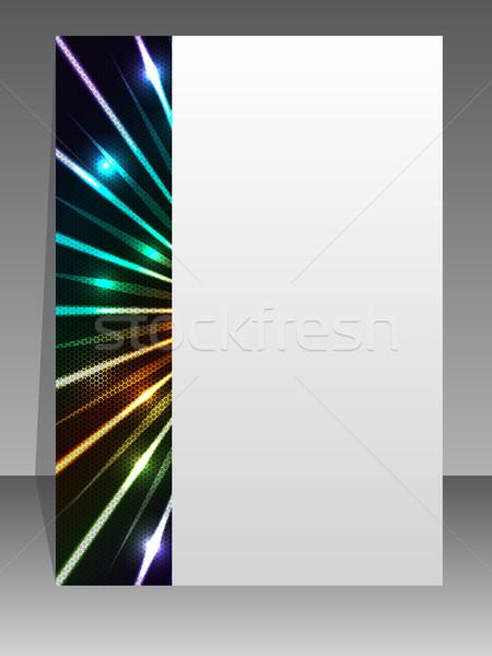 Absztrakt brosúra hatszög minta színes terv Stock fotó © vipervxw