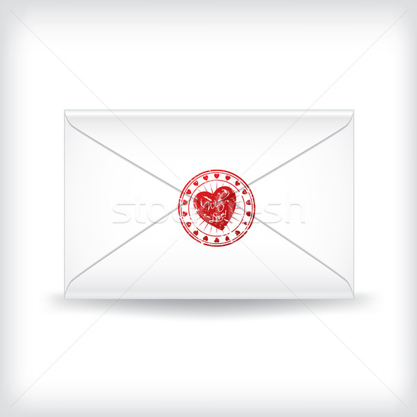 Stamp sealed love letter  Stock photo © vipervxw