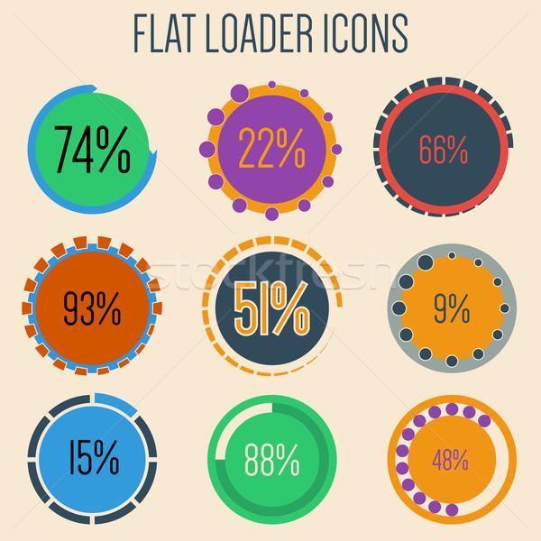 Flat loader icons Stock photo © vipervxw