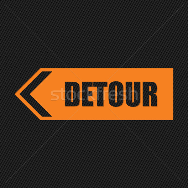 Detour sign on striped background Stock photo © vipervxw