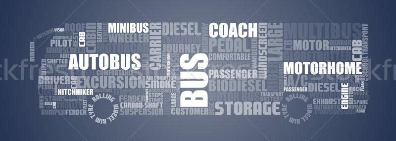 Texts shaped to show bus Stock photo © vipervxw