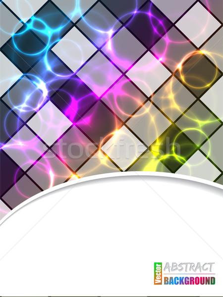 Hideg brosúra plazma lézer hatás terv Stock fotó © vipervxw
